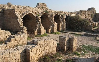 Remains of the vaulted storerooms of the Ashdod citadel, also known as Ashdod-Yam in Hebrew and Minat al-Qal'a in Arabic. (Wikimedia commons)