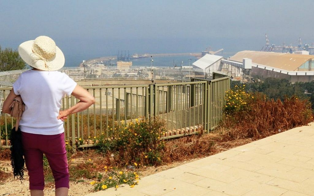 Overlooking the Mediterranean from Yona's Hill, believed to be the burial site of Jonah, near Ashdod (Shmuel Bar-Am)