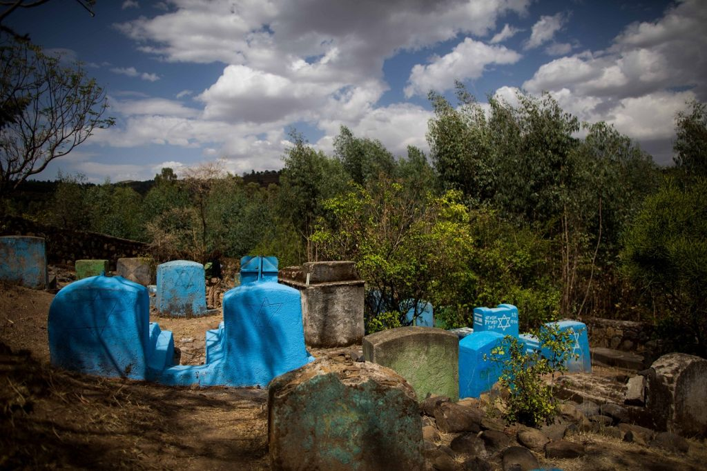 The Wolleka Jewish cemetery, in Gondar, Ethiopia, April 24, 2016 (Miriam Alster / Flash90)