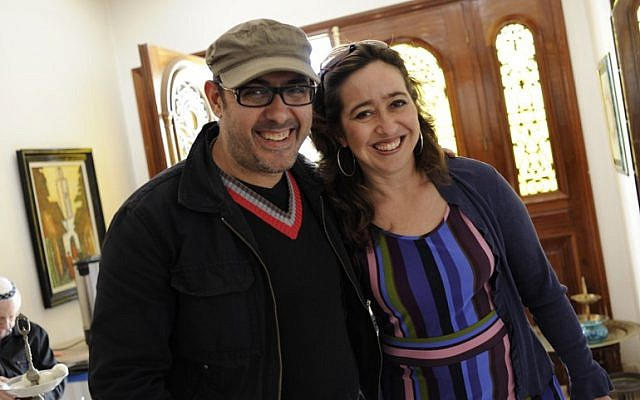 Maurice Elbaz and Vanessa Paloma Elbaz, organizers of the first Jewish film festival in Casablanca., April 2016. (Courtesy of Vanessa Paloma Elbaz)