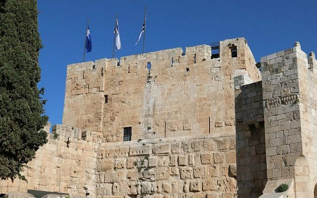 The foundation's of the Jerusalem Citadel were built by the ancient Maccabees. (Shmuel Bar-Am)