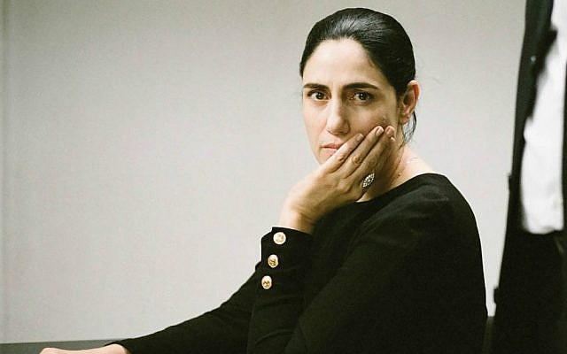 Ronit Elkabetz in her role as Viviane Amsalem, the distressed, estranged wife seeking a religious divorce in 'Gett' (Courtesy 'Gett')
