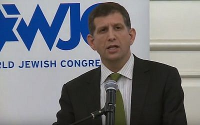 Sam Grundwerg was appointed in April 2016 as Israel's consul general in Los Angeles (screen capture: YouTube)