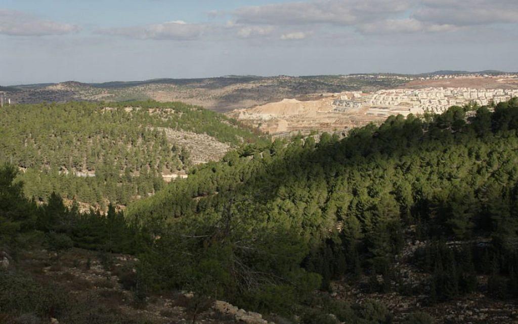 A view from Kibbutz Kfar Etzion (Shmuel Bar-Am)