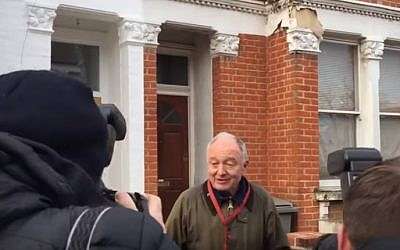 Ken Livingstone outside his home in London on Friday, April 29, 2016 (YouTube screen capture)