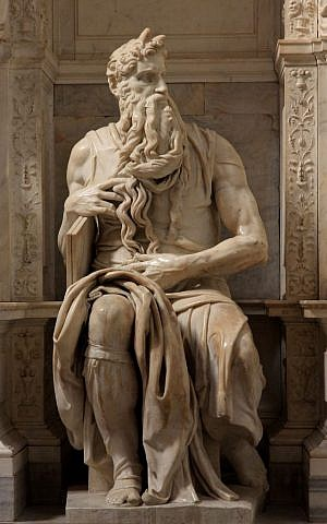 Michelangelo's statue of Moses in Rome (Wikimedia Commons, Jörg Bittner Unna, CC BY 3.0)