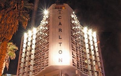 The Carlton hotel in Tel Aviv (Twitter via JTA)