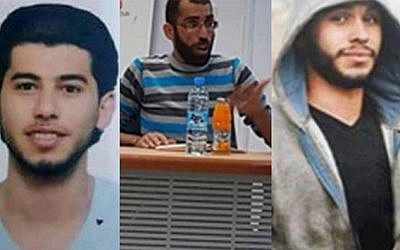 The three Palestinian youths arrested by PA security forces north of Ramallah on Saturday, April 9, 2016. According to security assessments, they were planning a large-scale terror attack against Israeli targets.