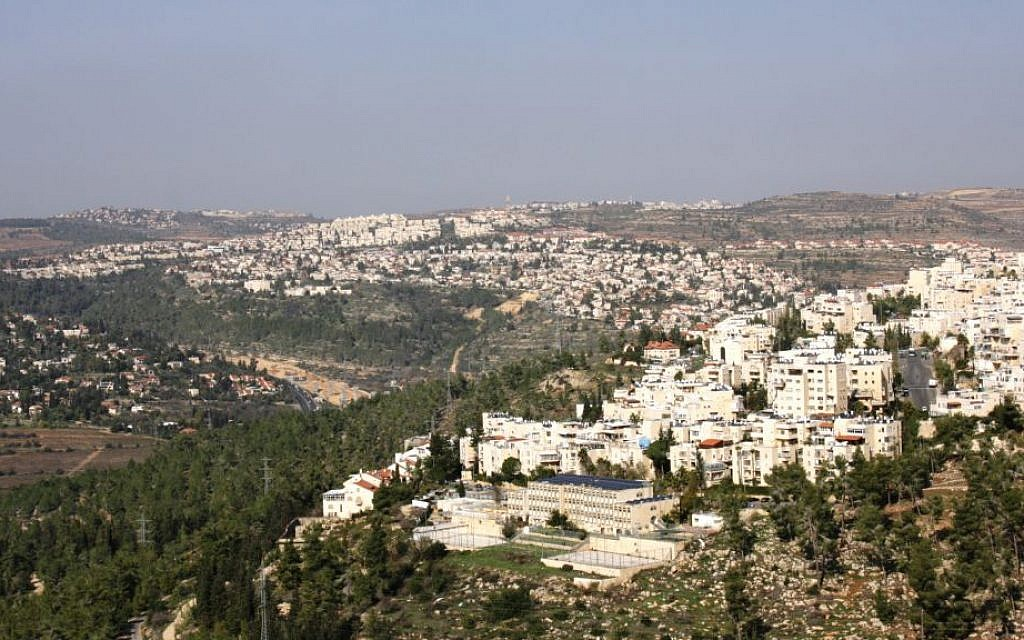 A view of Jerusalem from a path in the Garden of the Righteous Among the Nations. (Shmuel Bar-Am)