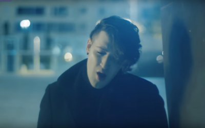 Hovi Star in a still image from a video of his song 'Made of Stars', Israel's entry to the Eurovision contest. (Screen capture YouTube)