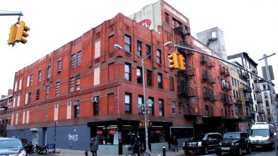 The exterior of the old Streit's matzah factory at 150 Rivington St. on Manhattan's Lower East Side. (Courtesy of Menemsha Films/via JTA)