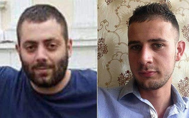 Dia Zabidi, 23, from Lod (left) and Mohammed al-Karnawi, 24, from Rahat (right), two Israeli medical students were killed in a road accident in Romania on April 23, 2016. (Courtesy)