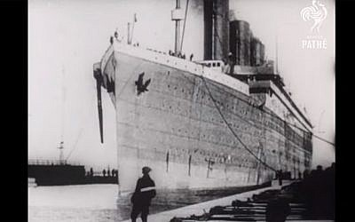 The Titanic on the day it sailed from Southampton, England (screen capture: YouTube)