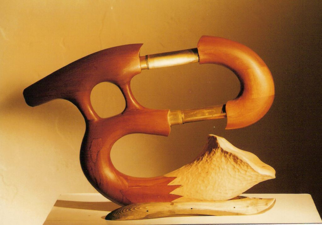 A trombonidoo, one of the unusual instruments on display at the instruments festival in Old Jaffa over Passover (Courtesy Barak Osorovitz)