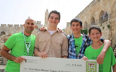 Members of the Zombie Rat team, winners of the Hack the Walls event (Courtesy)