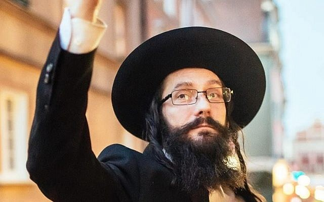 Rabbi Jacoob Ben Nistell, from Haifa, Israel, who is actually Jacek Niszczota, from Poland (Facebook)