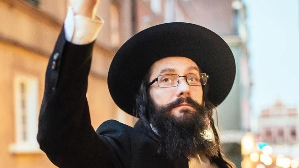 Rabbi Jacoob Ben Nistell, from Haifa, Israel, who is actually Jacek Niszczota, from Poland (Facebook)