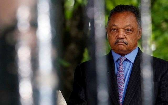Reverend Jesse Jackson looks on during a ceremony at the Luxembourg Gardens to mark the anniversary of the abolition of slavery and to pay tribute to the victims of the slave trade, Paris, France, May 10, 2016.  (AFP/ PHILIPPE WOJAZER)