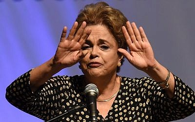 Brazilian President Dilma Rousseff on May 10, 2016. (AFP PHOTO / EVARISTO SA)