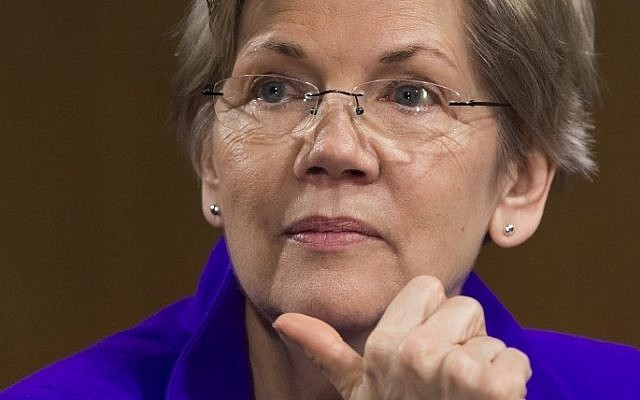 This file photo taken on February 24, 2015 shows US Senator Elizabeth Warren(D-MA), as she attends a US Senate Banking, Housing and Urban Affairs Committee hearing on Capitol Hill in Washington, DC. (AFP PHOTO / SAUL LOEB)