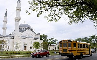 View of the mosque at the Diyanet Center of America on May 13, 2016 in Lanham, Maryland. (AFP PHOTO / Olivier Douliery)