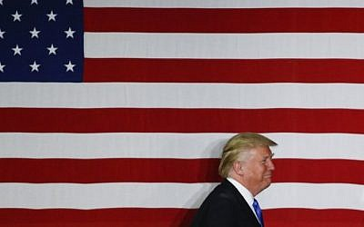 This file photo taken on May 18, 2016 shows Republican presidential candidate Donald Trump at a fundraising event in Lawrenceville, New Jersey. (AFP/Eduardo Munoz Alvarez)
