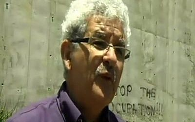 Muhammad Beiruti, member of the new movement Two States, One Homeland. (Screen capture Channel 2)