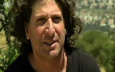 Eliaz Cohen, member of the new movement Two States, One Homeland. (Screen capture Channel 2)