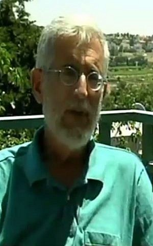 Meir Yehoshua, member of the new movement Two States, One Homeland. (Screen capture Channel 2)