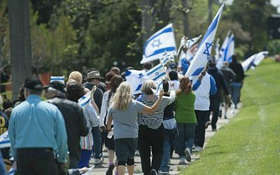 Participants in the Detroit Jewish community's Walk for Israel. (WalkforIsrael.org)