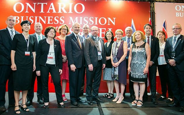 The Ontario Business Mission to Israel in Tel Aviv. (Courtesy)