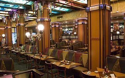 Interior, Ben's Kosher Deli on 38th Street in Manhattan (facebook)