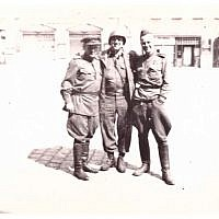 """Two more Russian soldiers and it's the same place. Wurzen Germany. April 27, 1945"" (Jules Helfner)"