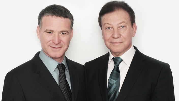 Erez Gavish, left, and his father, Dr. Benjamin Gavish. (Courtesy)
