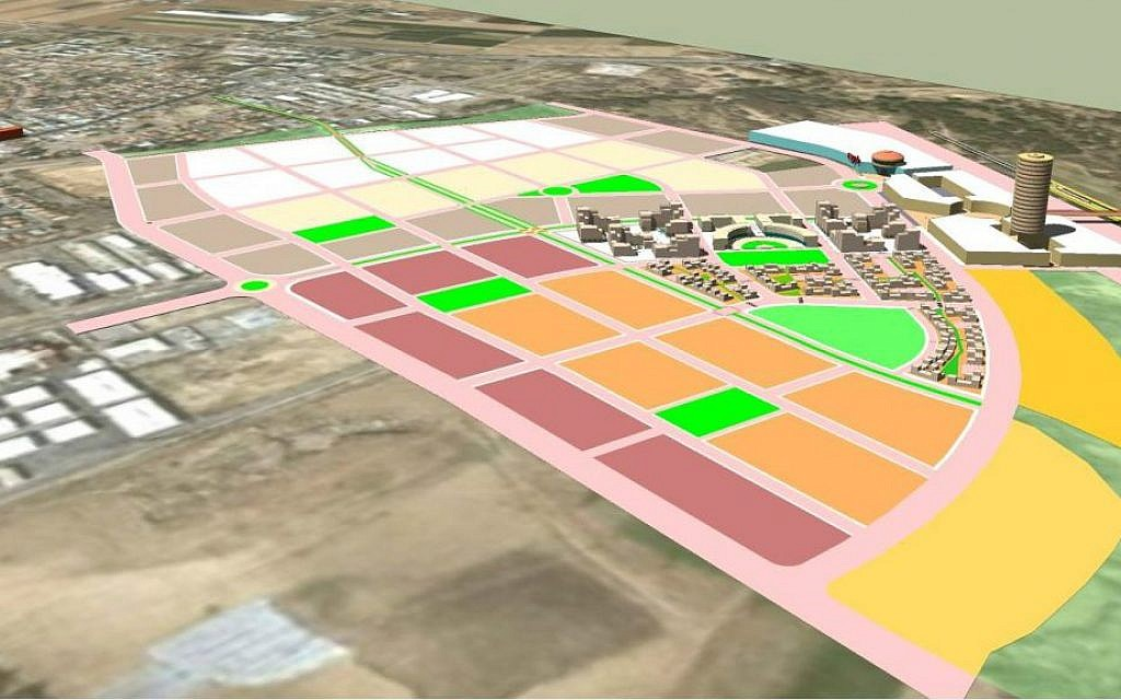 Tentative plans for the Noah Quarter in the small city of Ofakim in the northern Negev. (Courtesy)