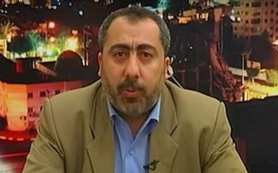 Senior Hamas official Taher A-Nunu. (YouTube/Israel Defense Forces)