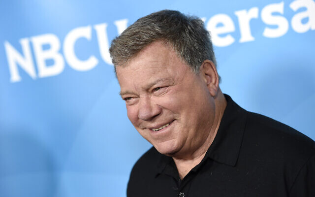 William Shatner arrives at the NBC Universal Summer Press Day at The Langham Huntington Hotel in Pasadena, Calif, April, 2015. Shatner first swaggered onto the bridge of the starship Enterprise in 1966. (Chris Pizzello/Invision/AP)