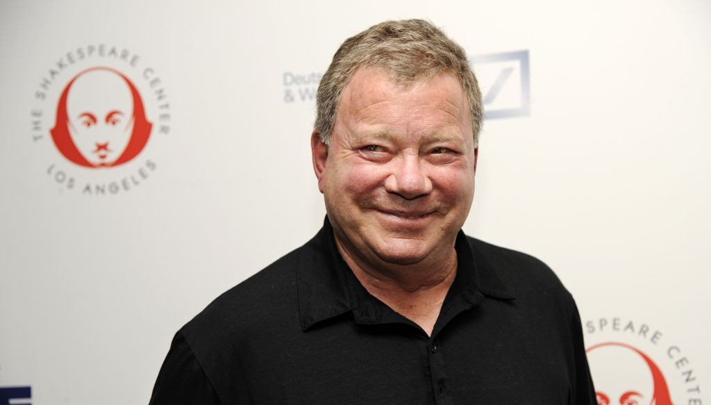 "William Shatner poses at the 24th annual Simply Shakespeare benefit reading of ""As You Like It,"" at UCLA's Freud Playhouse on Monday, Sept. 22, 2014, in Los Angeles. (Chris Pizzello/Invision/AP)"