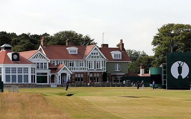 The clubhouse at Muirfield golf course in Muirfield, Scotland, July 14, 2013. (AP/Scott Heppell)