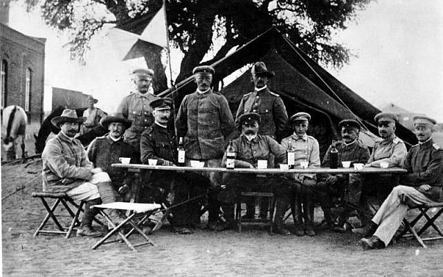 "Lieutenant General Lothar von Trotha, the Oberbefehlshaber (Supreme Commander) of the ""protection force"" in German South-West Africa, in Keetmanshoop during the Herero uprising, 1904. (Wikipedia)"