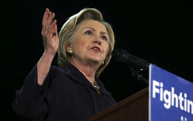 In this May 11, 2016 file photo, Democratic presidential candidate Hillary Clinton speaks during a campaign rally in Blackwood, New Jersey. (AP Photo/Mel Evans, File)