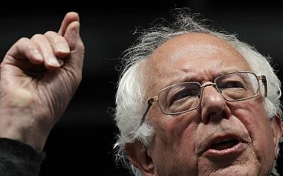 In this May 4, 2016 photo, Democratic presidential candidate Sen. Bernie Sanders, I-Vermont, speaks during a campaign rally in Louisville, Kentucky. (AP Photo/Charlie Riedel)