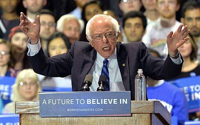 Democratic presidential candidate, Sen. Bernie Sanders, I-Vermont, speaks to a gathering of supporters during a campaign rally at the Lexington Convention Center, Lexington, Kentucky, Wednesday, May 4, 2016. (AP Photo/Timothy D. Easley)