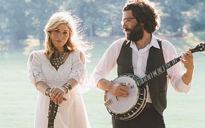 Husband and wife Jewish-American bluegrass duo Doni Zasloff and Eric Lindberg are the faces of Nefesh Mountain (courtesy)