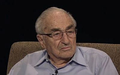 Ernest (Ernie) Michel, Auschwitz survivor and Executive Vice President UJA-Federation of New York. (YouTube/cunytv75)
