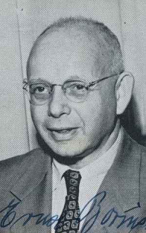 Dr. Ernst Borinski, head of the Sociology Department at Tougaloo College, Tougaloo, Mississippi from the institution's yearbook, Eaglet '55. (Wikipedia)