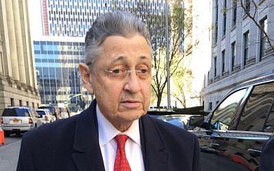 Former New York Assembly Speaker Sheldon Silver leaves court in New York, April 14, 2016. (AP/Larry Neumeister)