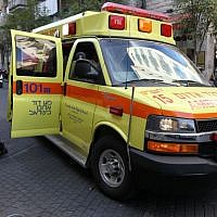Illustrative: A Magen David Adom ambulance. (Nati Shohat/Flash90)