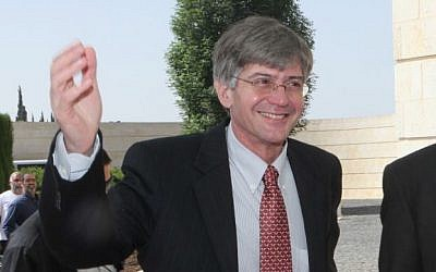 Then-US Deputy Secretary of State James Steinberg at the Ministry of Foreign Affairs in Jerusalem on May 19 2011. (Photo by Yossi Zamir/Flash 90)