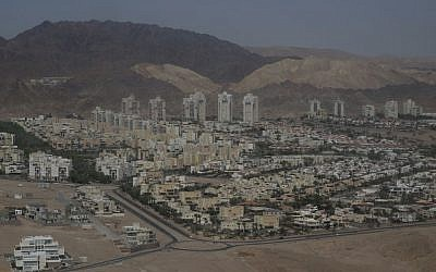 View of the southern Israeli city of Eilat on April 1, 2014. (Nati Shohat/Flash90)